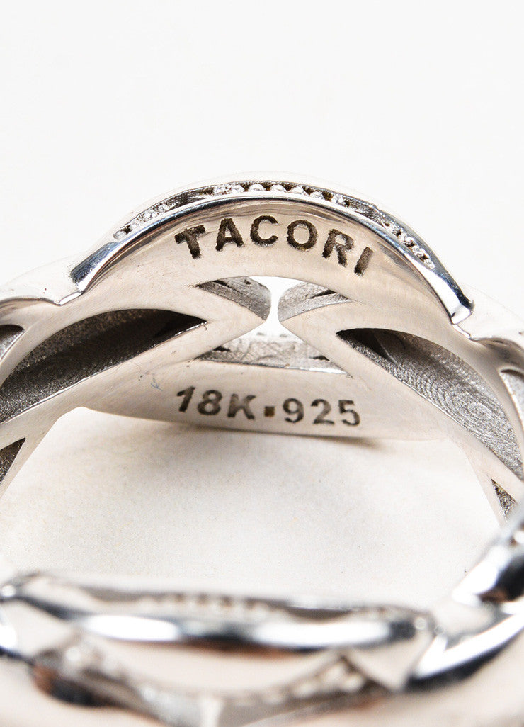 Tacori Sterling Silver Ivy Lane Crescent Links Stacking Ring brand