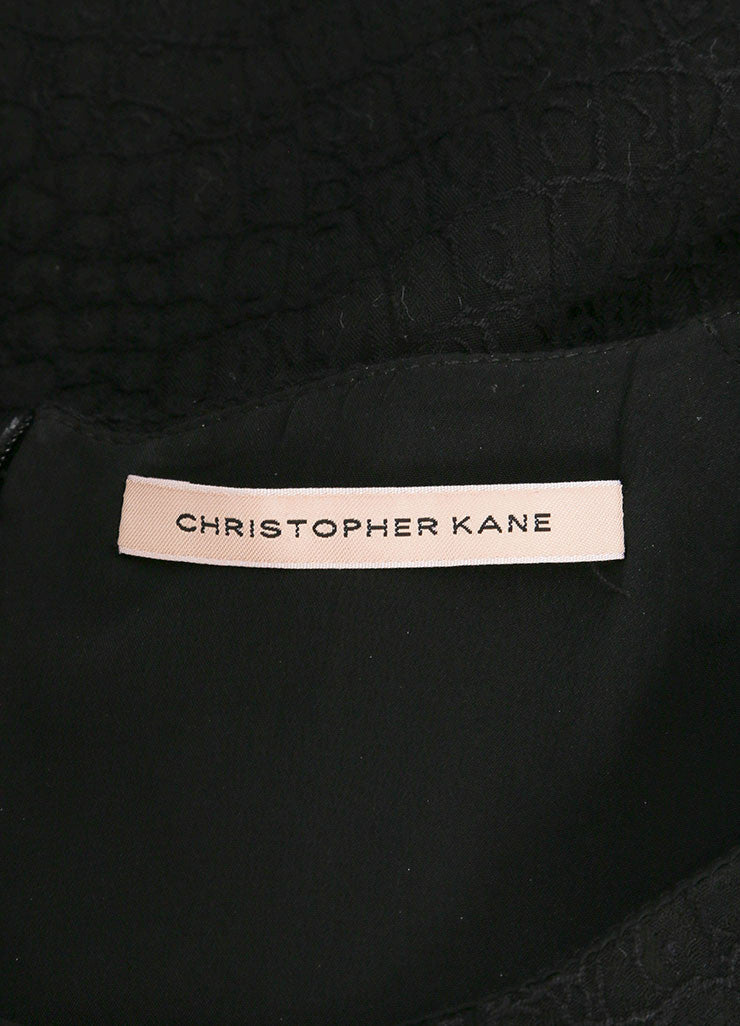 Christopher Kane New With Tags Black and Pink Cut Out Short Sleeve Boxy Cropped Top Brand