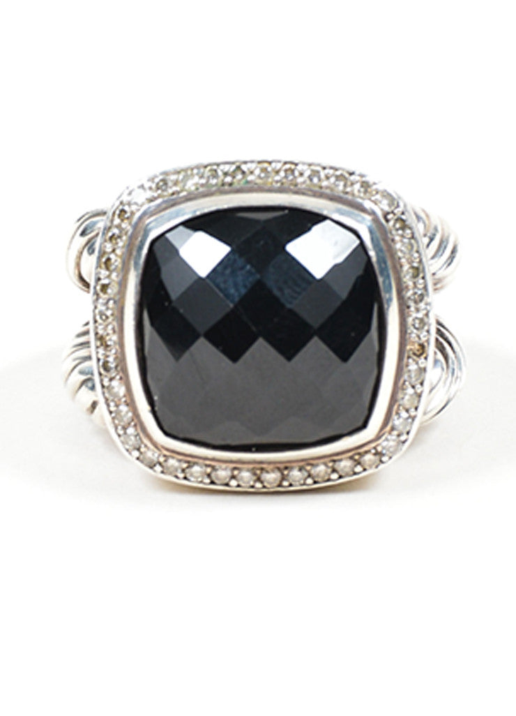 "Sterling Silver, Black Onyx, and Diamond David Yurman ""Albion"" Statement Ring Frontview"