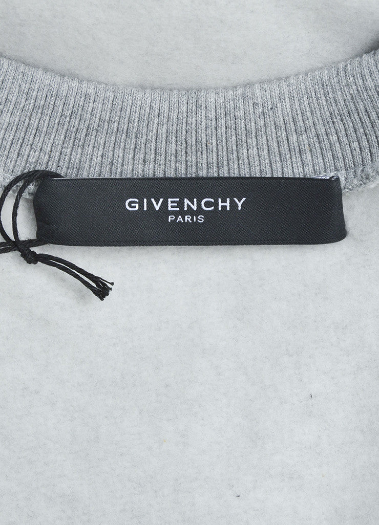 Men's Grey Givenchy Wool Color Block Basketball Sweatshirt Brand