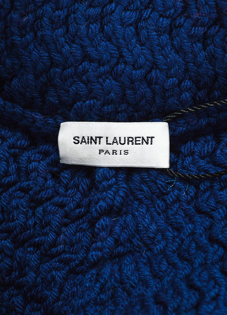 "Multicolor Saint Laurent Wool and Mohair ""Far Isle"" Poncho Brand"