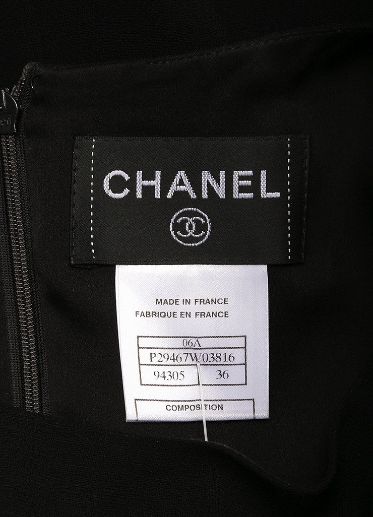 Chanel Black Silk Knit Sleeveless Shift Dress Brand