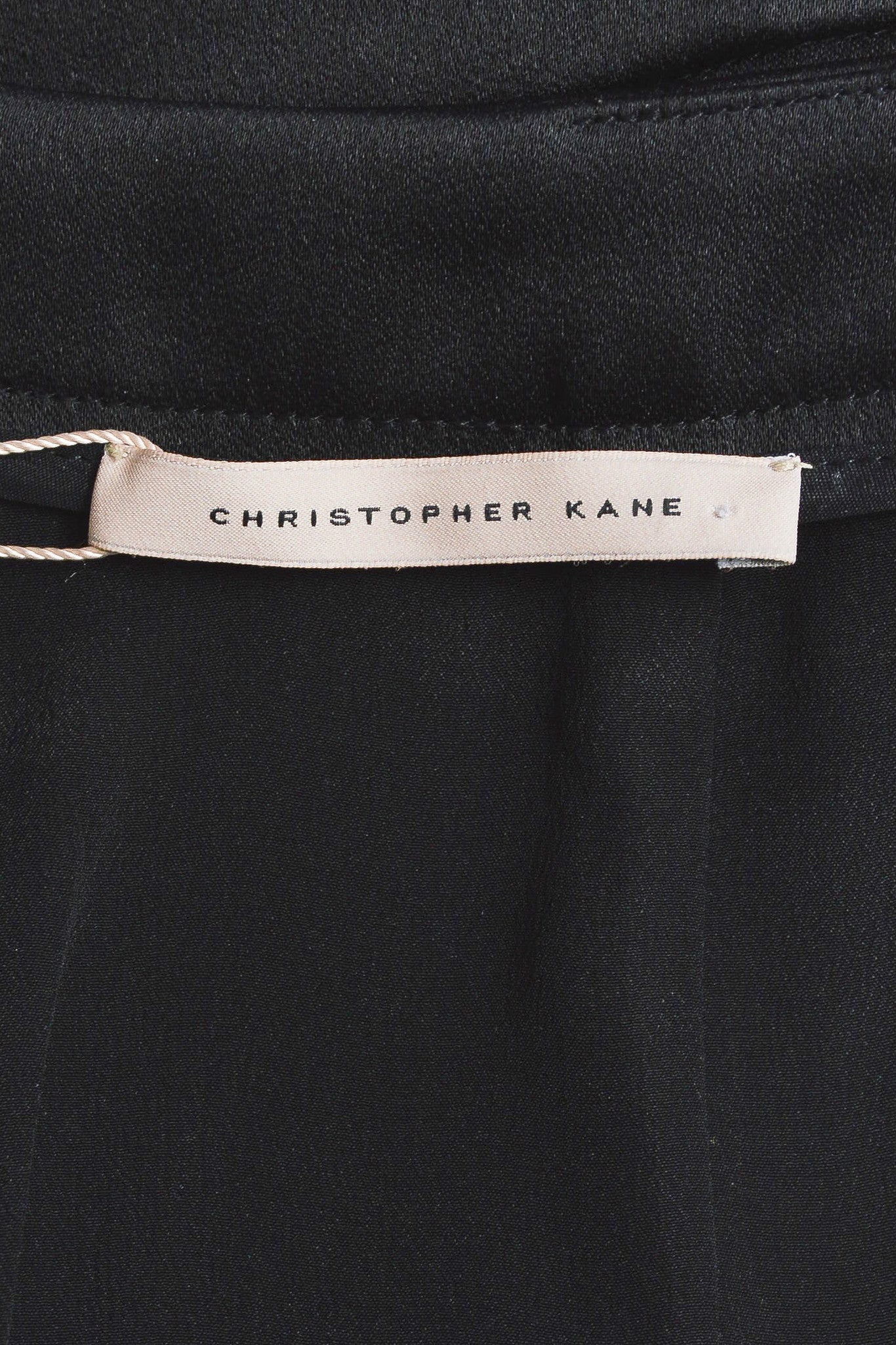 Black and Multicolor Christopher Kane Satin Floral Embroidered Skirt Brand