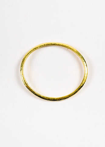 "Ippolita 18K Yellow Gold Hammered ""Glamazon"" Curved Bangle Bracelet Topview"