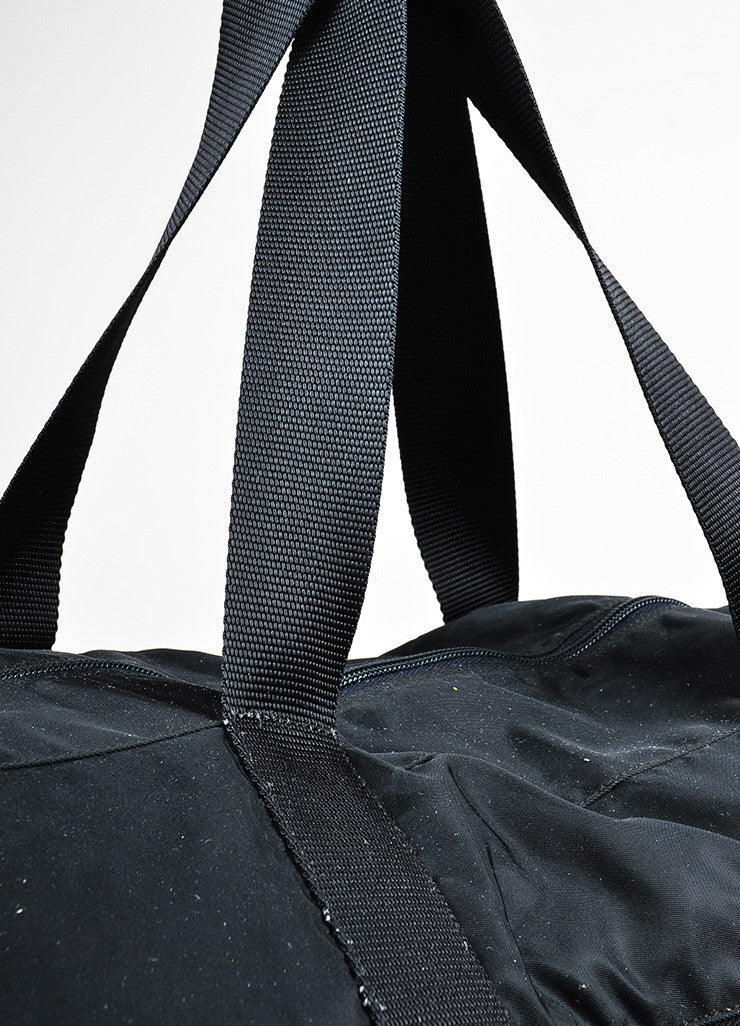 Prada Black Nylon Oversized Overnight Travel Carryall Duffel Bag Detail 3