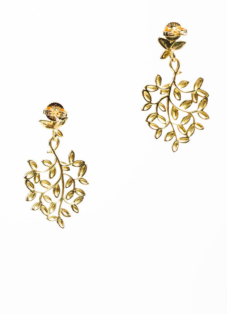 18K Gold Tiffany & Co Paloma Picasso Olive Leaf Earring Back