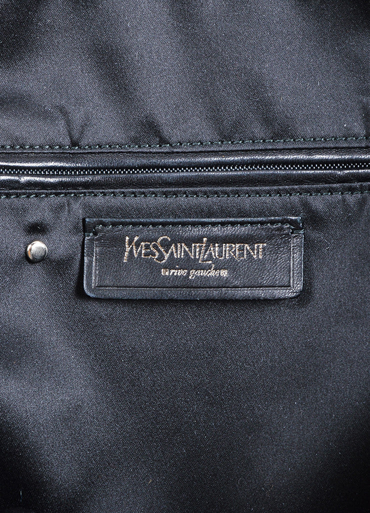 "Yves Saint Laurent Black Leather ""Muse"" Tote Bag Brand"