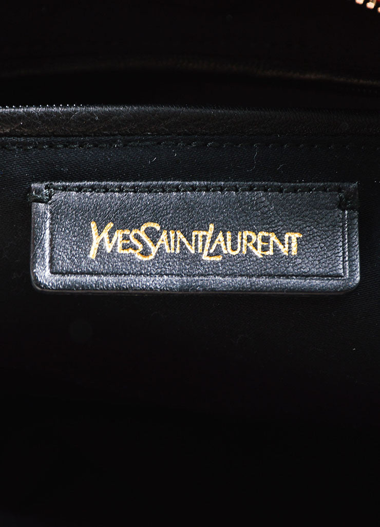 "Red Yves Saint Laurent Leather ""Muse"" Tote Bag Brand"