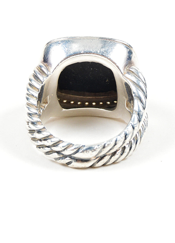 "Sterling Silver, Black Onyx, and Diamond David Yurman ""Albion"" Statement Ring Backview"