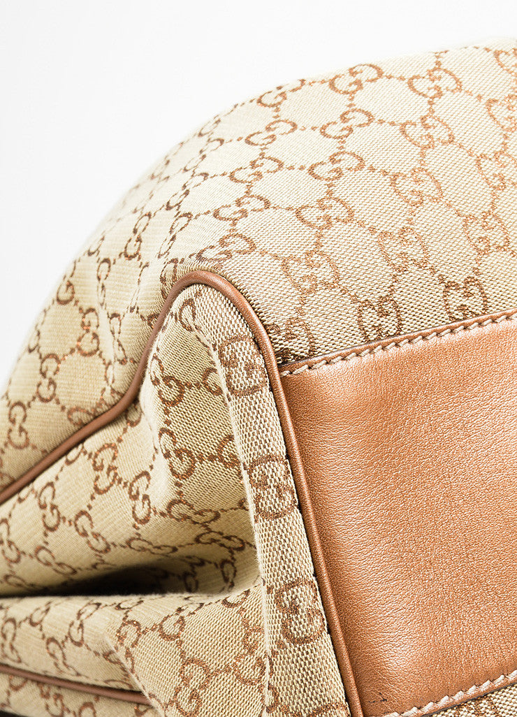 "Brown Gucci Monogram Canvas ""Sukey"" Tote Bag"