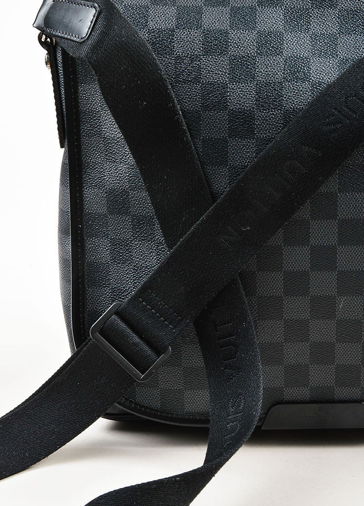 "Louis Vuitton Damier Graphite Coated Canvas ""Daniel"" Top Flap Messenger Bag Detail 2"