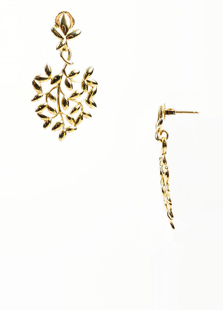 18K Gold Tiffany & Co Paloma Picasso Olive Leaf Earring Detail