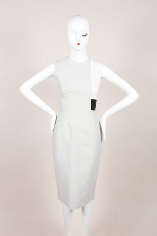 "Roksanda New With Tags Grey, Cream, and Black ""Reyon"" Sheath Dress Frontview"
