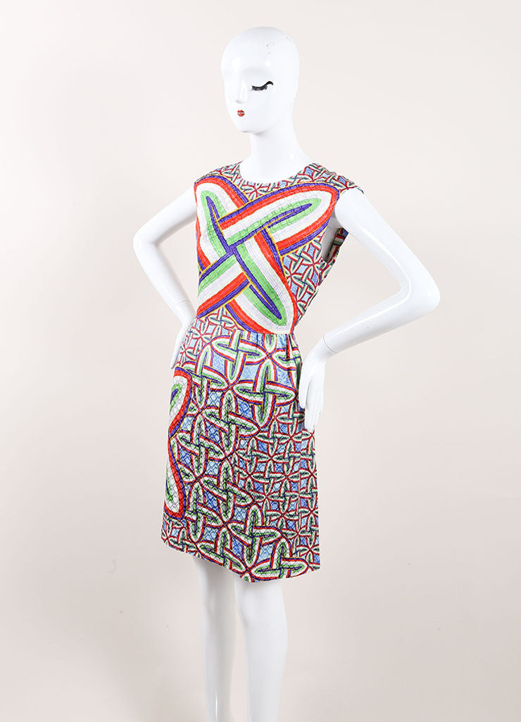"Peter Pilotto New With Tags Multicolor Silk Printed Sleeveless ""Gia"" Dress Sideview"