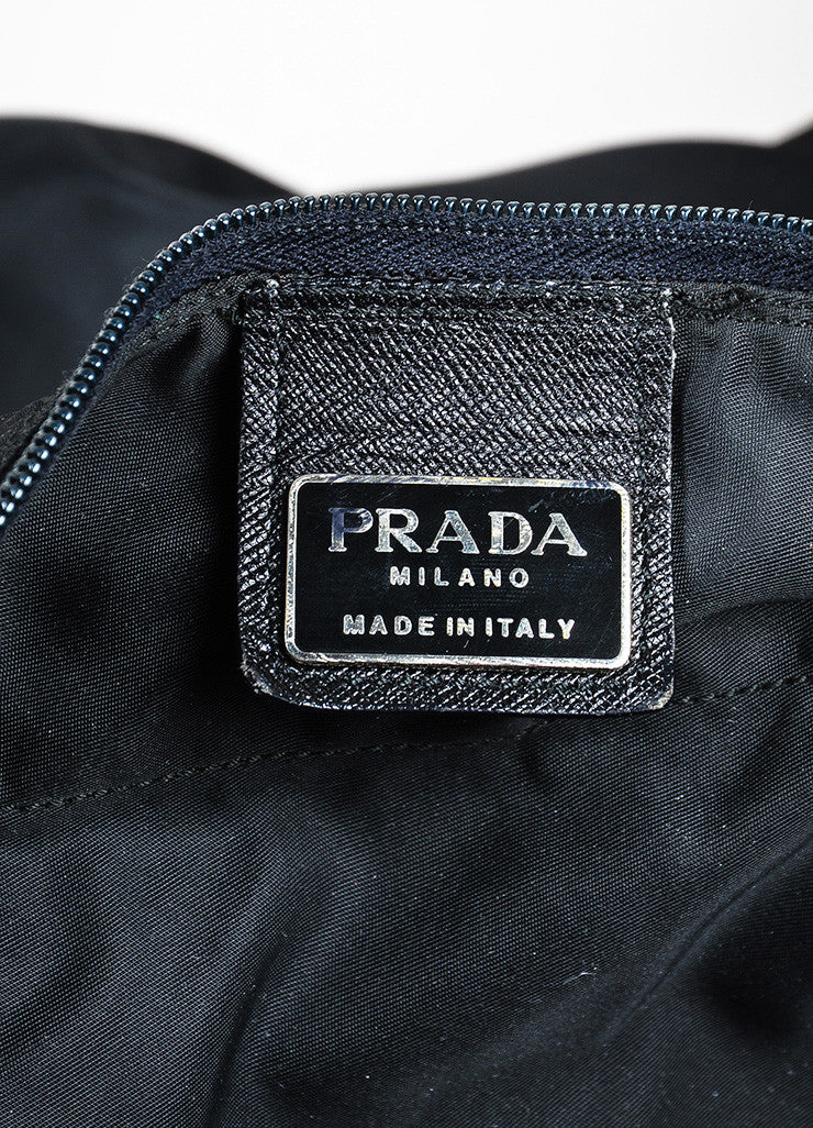 Prada Black Nylon Oversized Overnight Travel Carryall Duffel Bag Brand