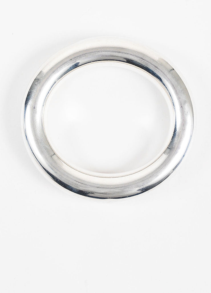"Tiffany & Co. Elsa Peretti Sterling Silver ""Doughnut"" Bangle Bracelet Topview"