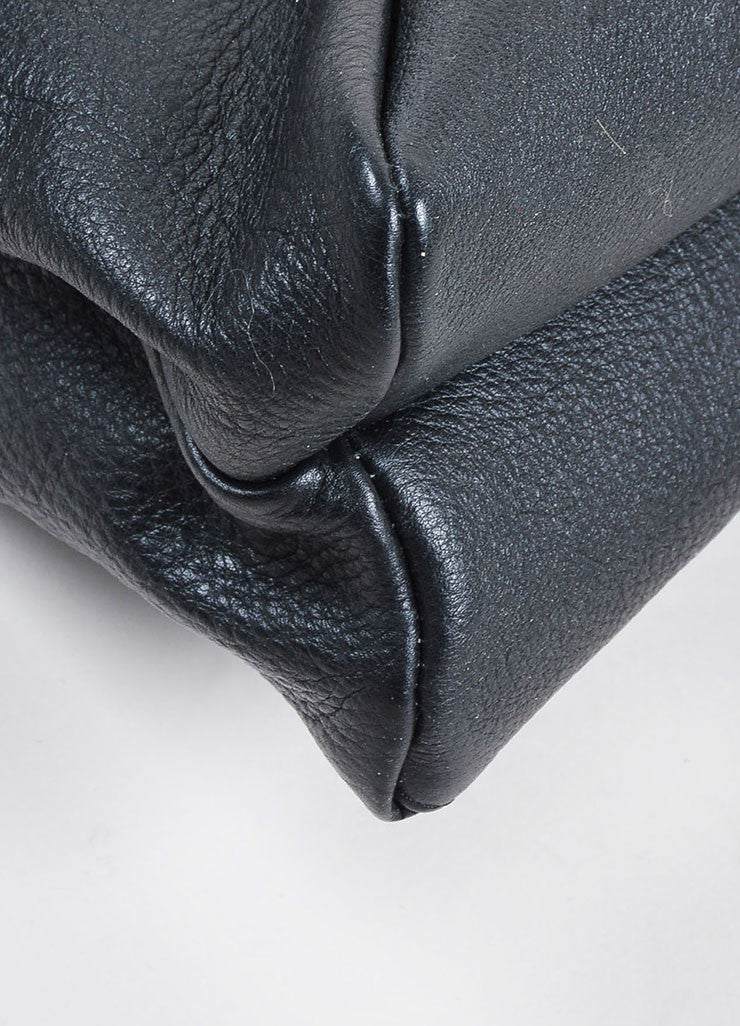 "VBH Black Leather ""Prive"" Envelope Shoulder Bag Detail"