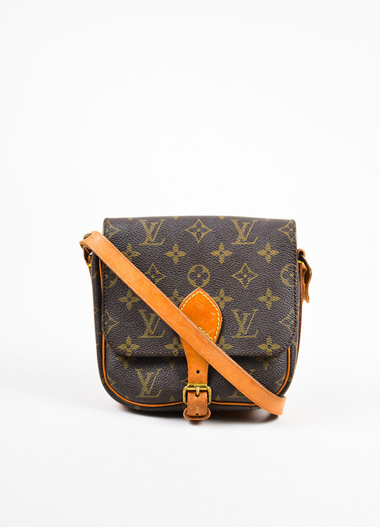 "Louis Vuitton Monogram Canvas ""Cartouchiere PM"" Crossbody Bag Frontview"