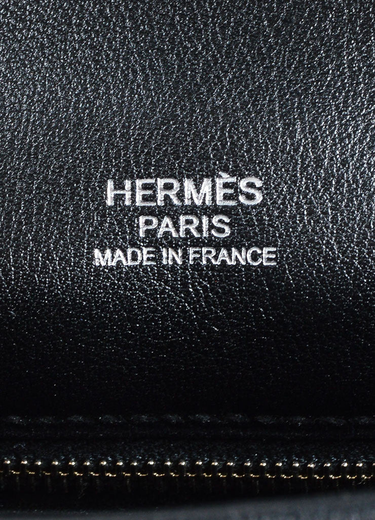 "Hermes RARE Black Teal Calfskin Suede Leather ""Mini Berline"" Bag Brand"