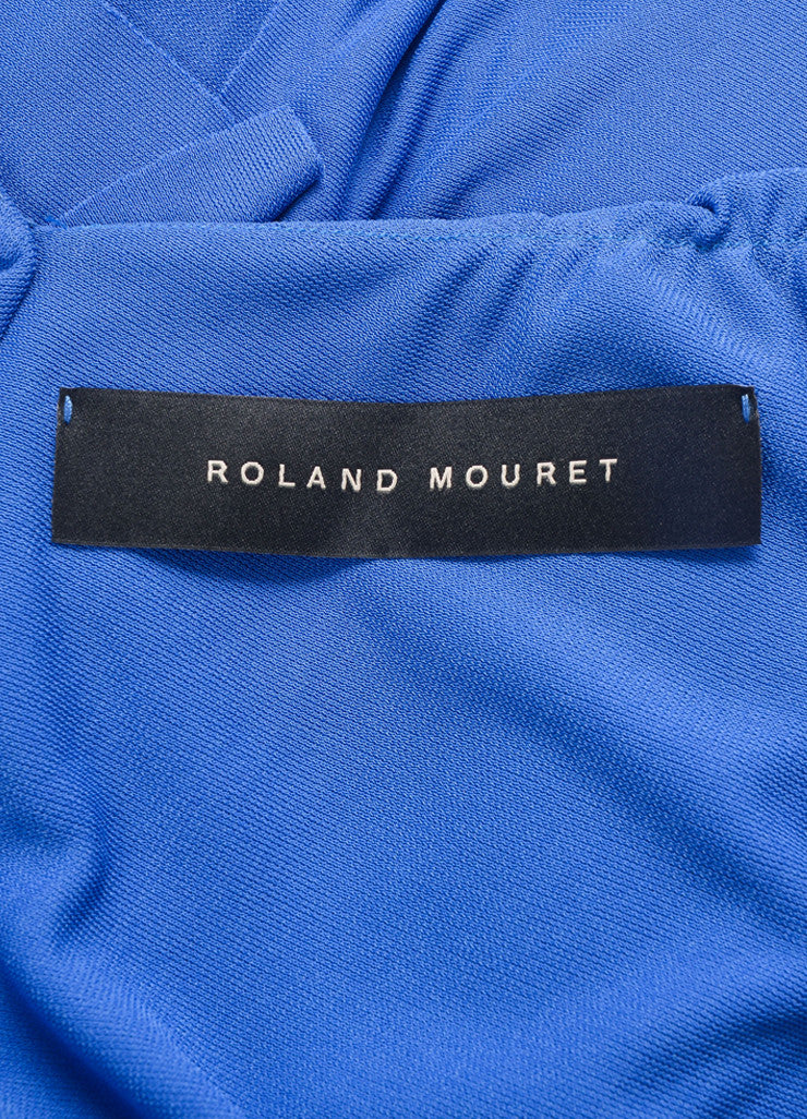 Roland Mouret Blue Periwinkle Jersey One Shoulder Dress Brand