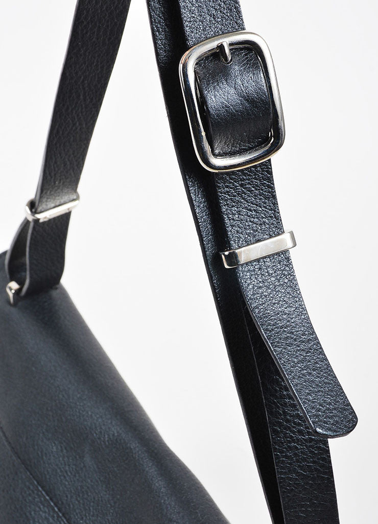 "VBH Black Leather ""Prive"" Envelope Shoulder Bag Detail 2"