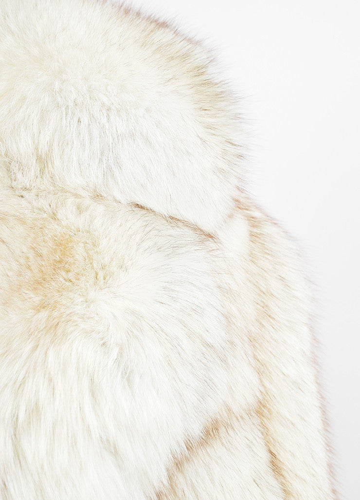 Cream and Brown I.Magnin Fur Channeled Coat Detail