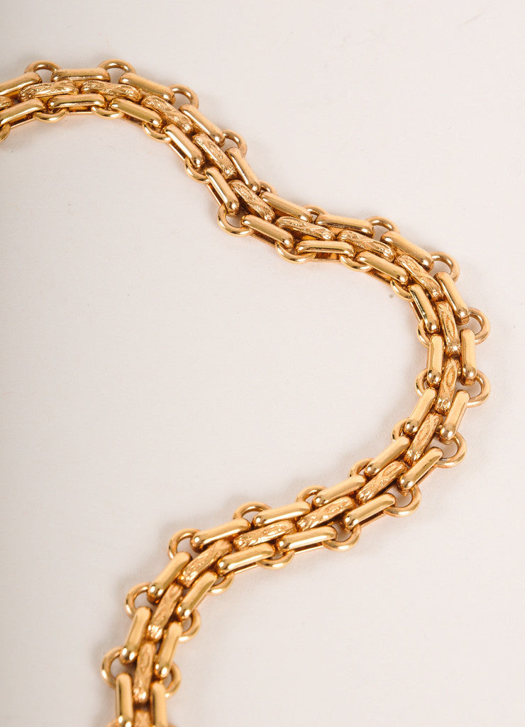 Chanel Gold Toned Flower Pendant Faux Pearl Rhinestone Reissue Chain Belt Detail 3
