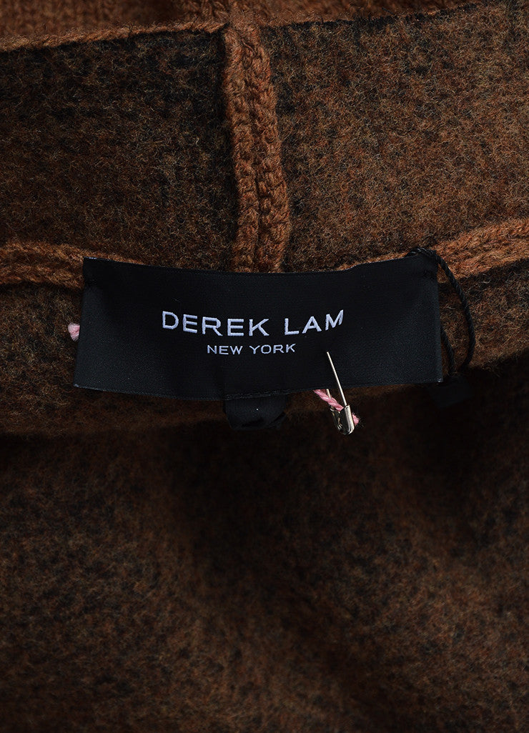 """Vicuna"" Brown Derek Lam Wool and Silk Oversized Cape Brand"