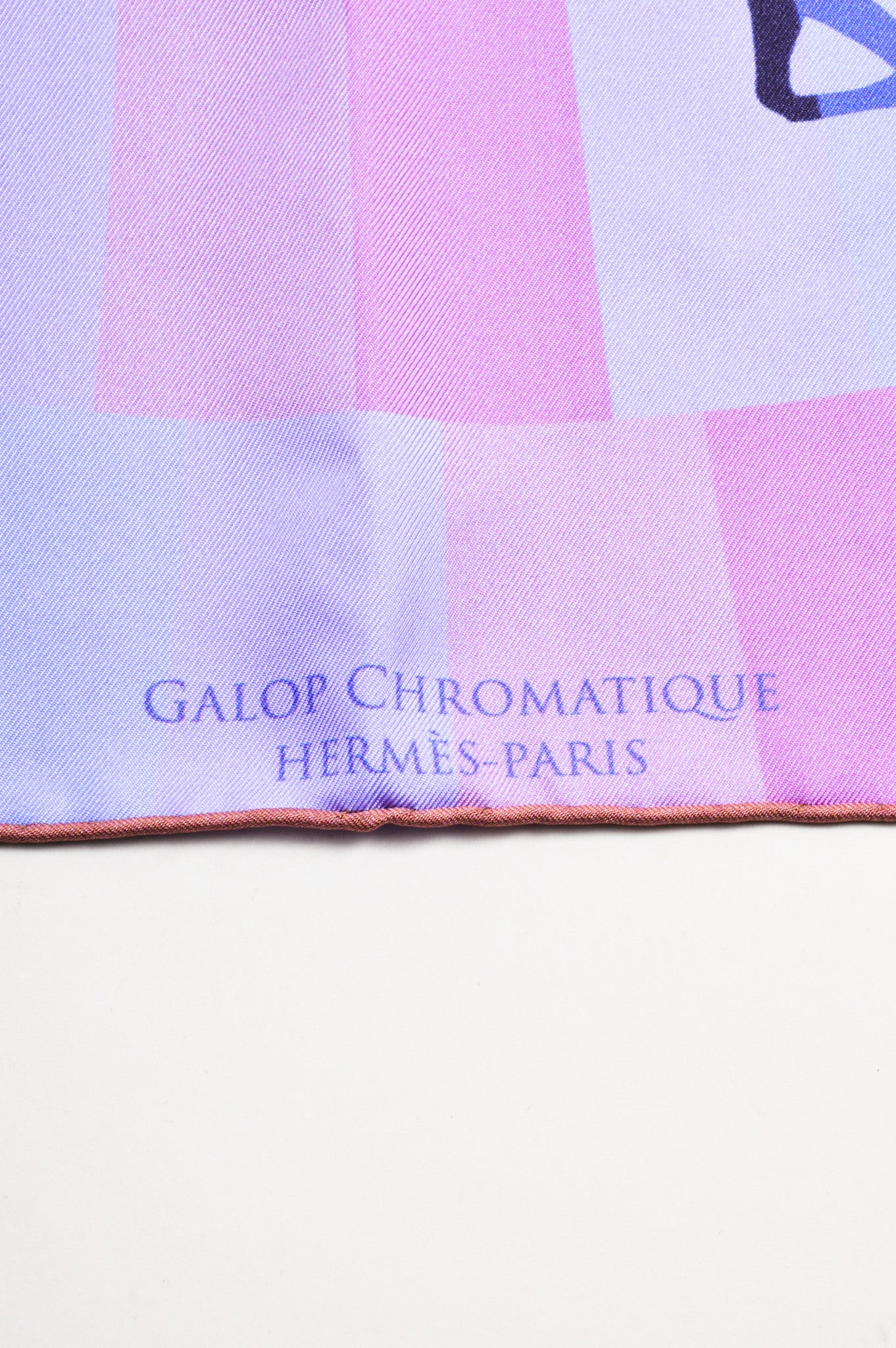 "Hermes Multicolor Silk Horse Jockey Print ""Galop Chromatique"" Scarf"