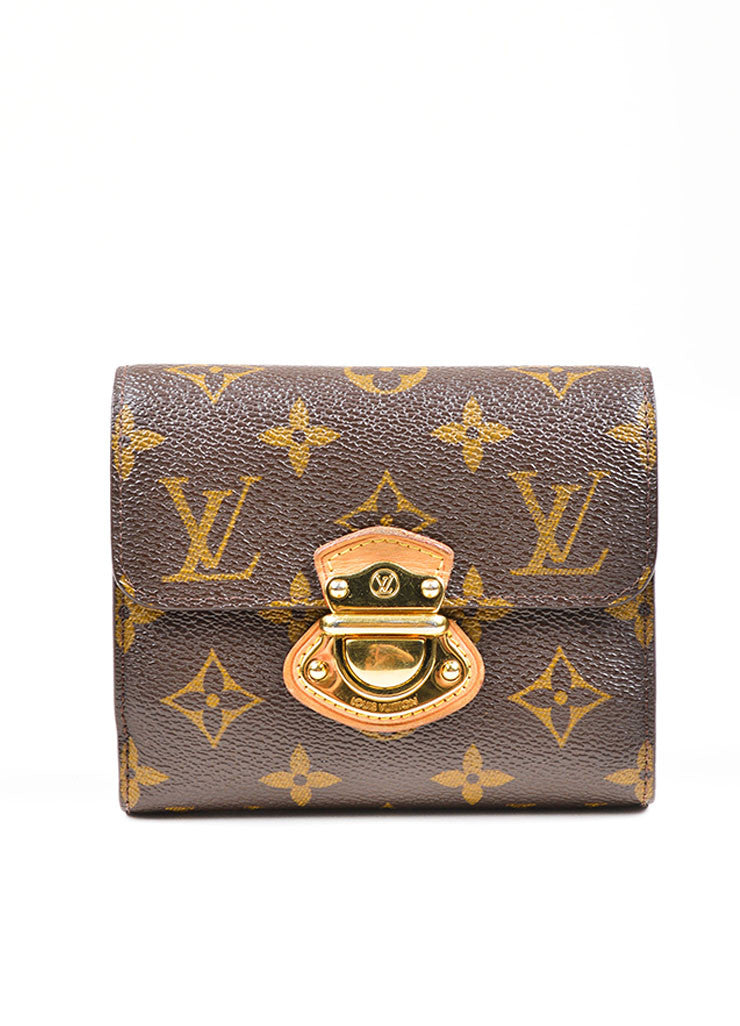 "Brown Louis Vuitton Monogram Canvas ""Joey"" Wallet Front"