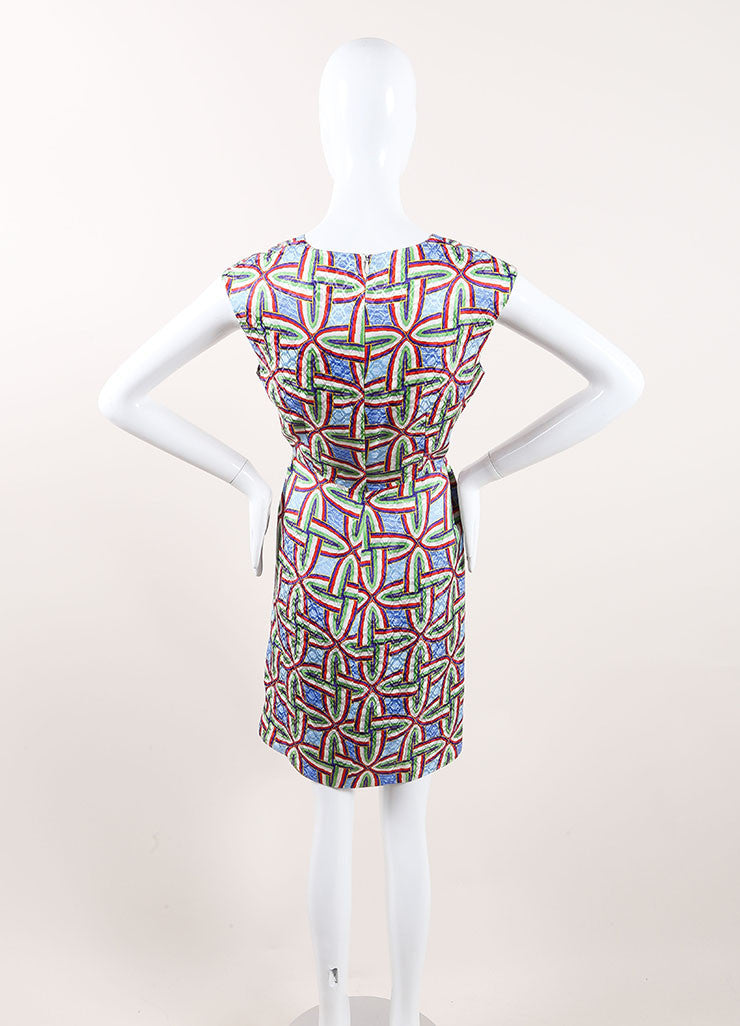 "Peter Pilotto New With Tags Multicolor Silk Printed Sleeveless ""Gia"" Dress Backview"