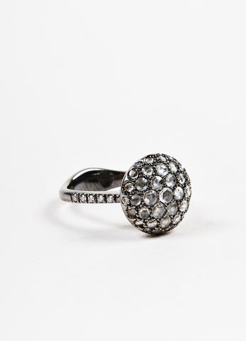 "Roberto Marroni 18K Oxidized White Gold and Diamond ""Baby Sand"" Cocktail Ring Sideview"