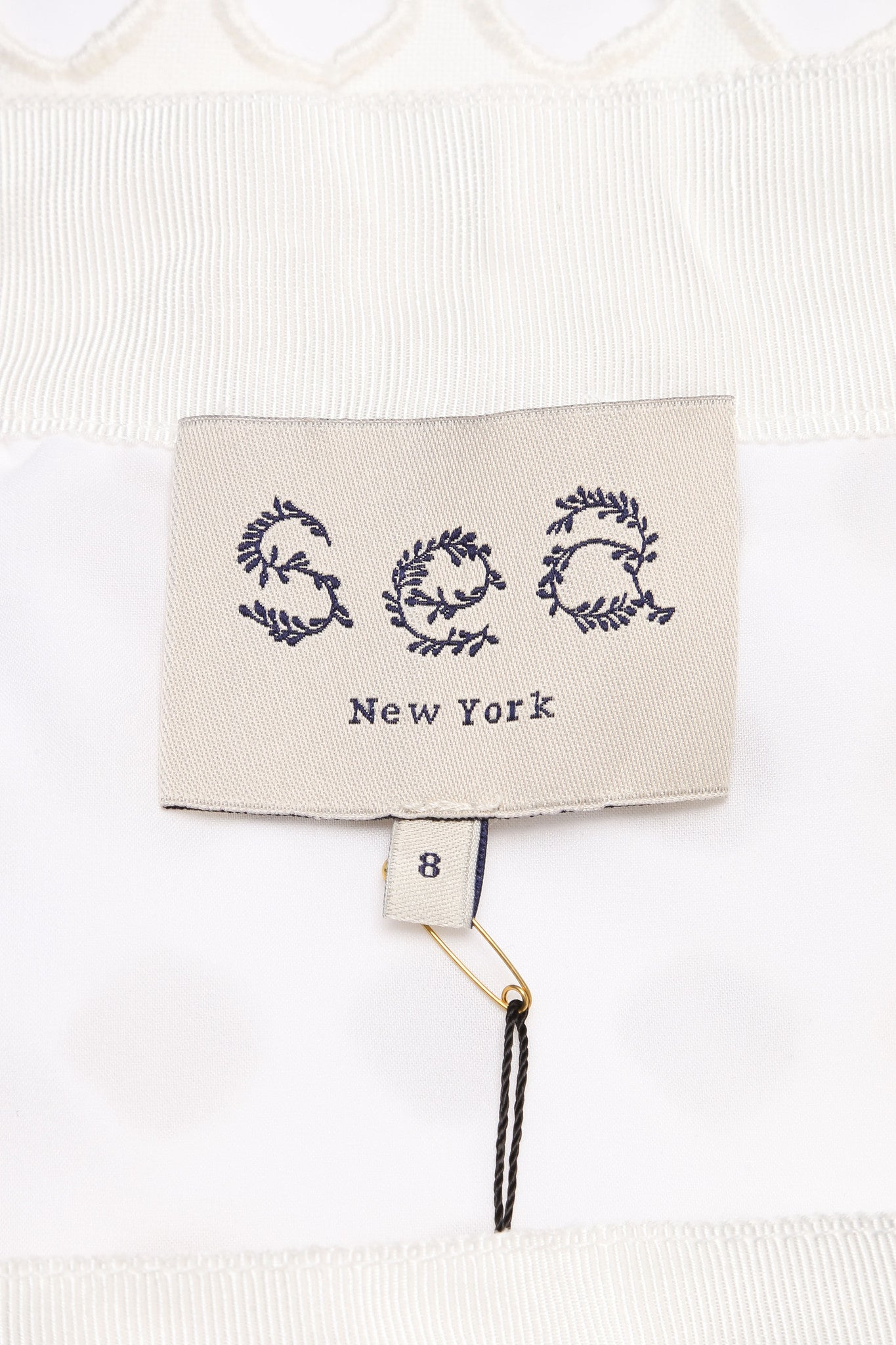 Sea New With Tags White Woven Knit Eyelet Overlay Pencil Skirt Brand