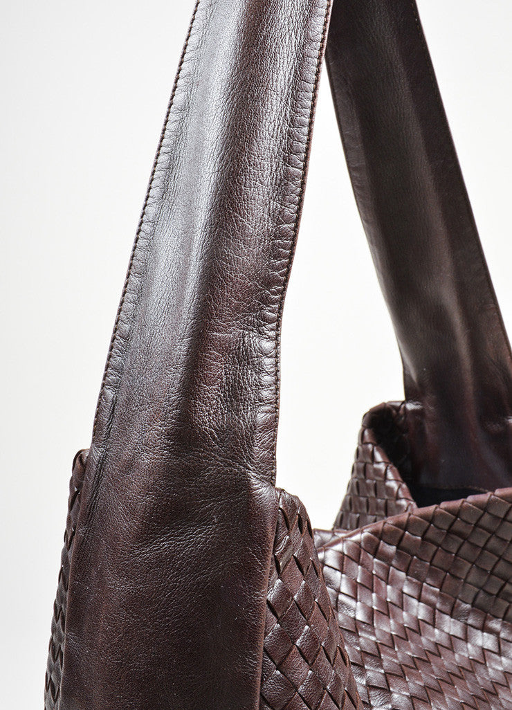 Brown Bottega Veneta Woven Intrecciato Leather Hobo Shoulder Bag Detail 2