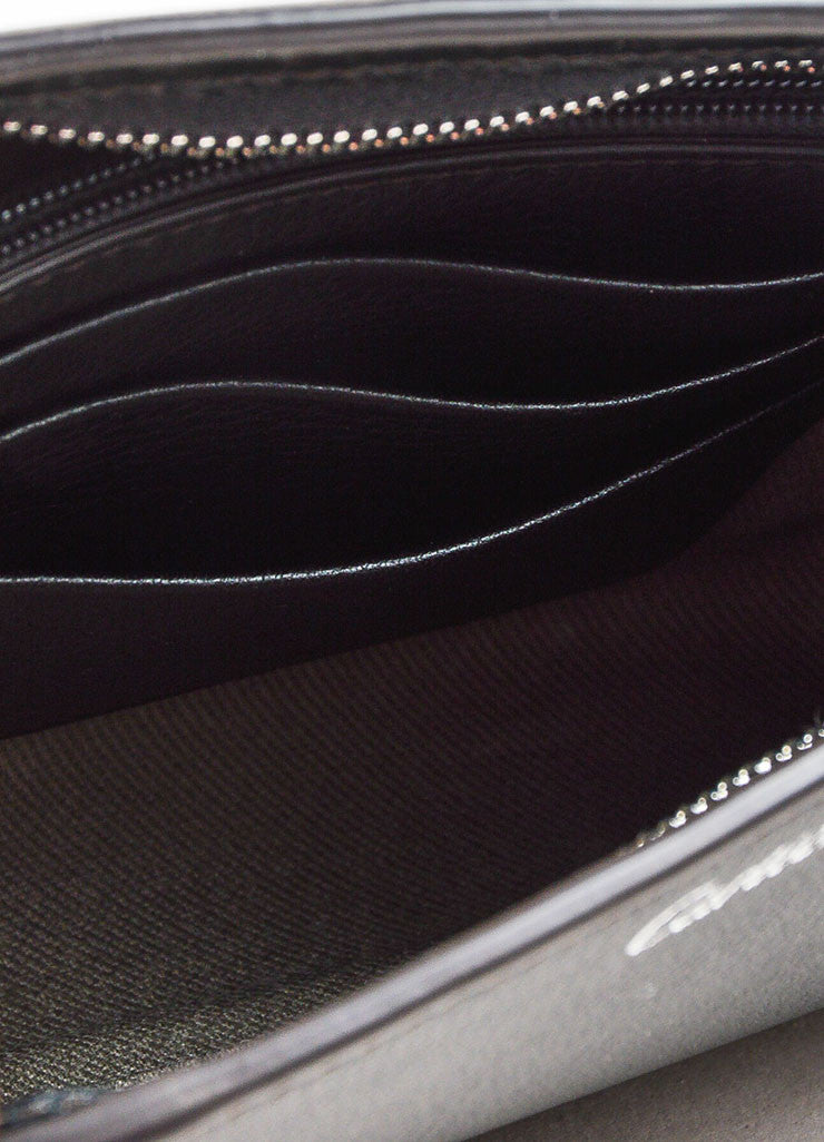 "Cartier ""Onyx"" Black Leather Winged Zipped ""C de Cartier"" Pouch Clutch Bag Interior"
