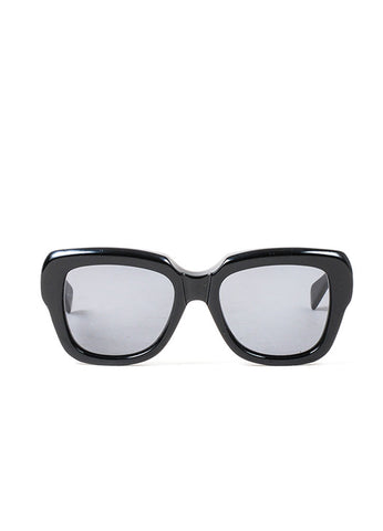 "Black Celine Plastic Oversized Square ""Cocoon"" Sunglasses Frontview"