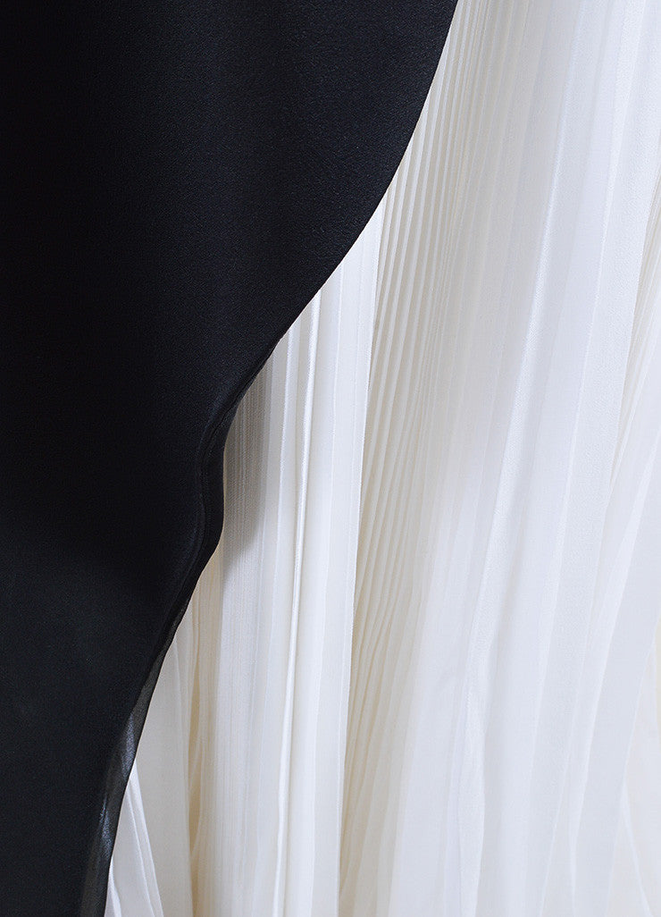 Black and White J. Mendel Silk Chiffon Layered Gown Detail