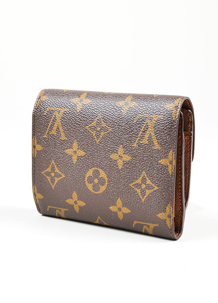 "Brown Louis Vuitton Monogram Canvas ""Joey"" Wallet Back"