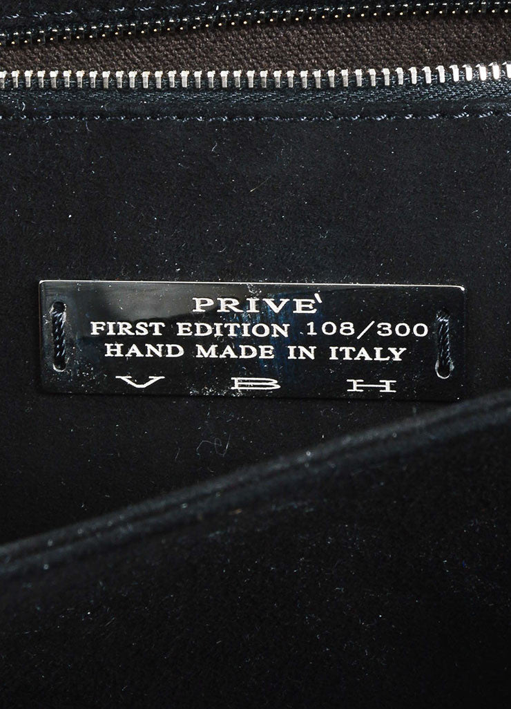 "VBH Black Leather ""Prive"" Envelope Shoulder Bag Brand"