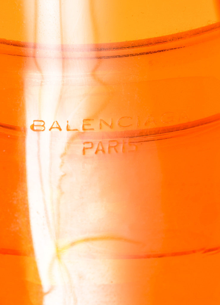 "Balenciaga Orange Layered Chunky Statement ""Drape"" Cuff Bracelet Brand"
