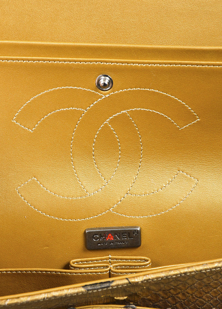 Chanel Gold Python 2.55 Reissue 226 Double Flap Bag Interior 2