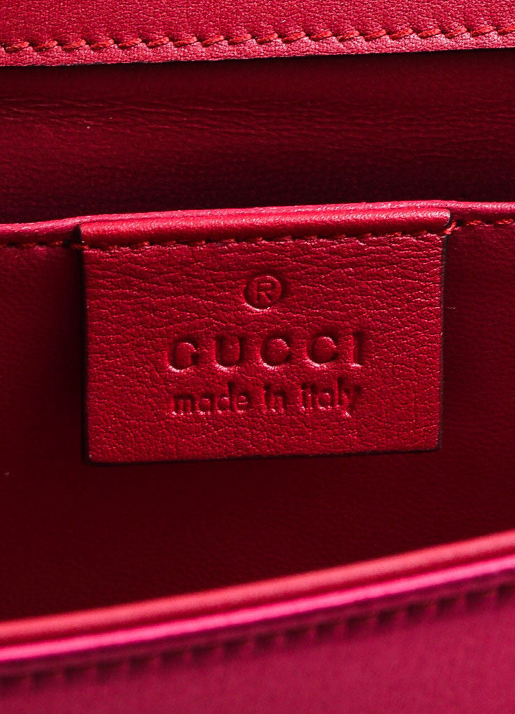 "Gucci Pink Satin Jewel Closure ""Broadway"" Evening Clutch Bag Brand"