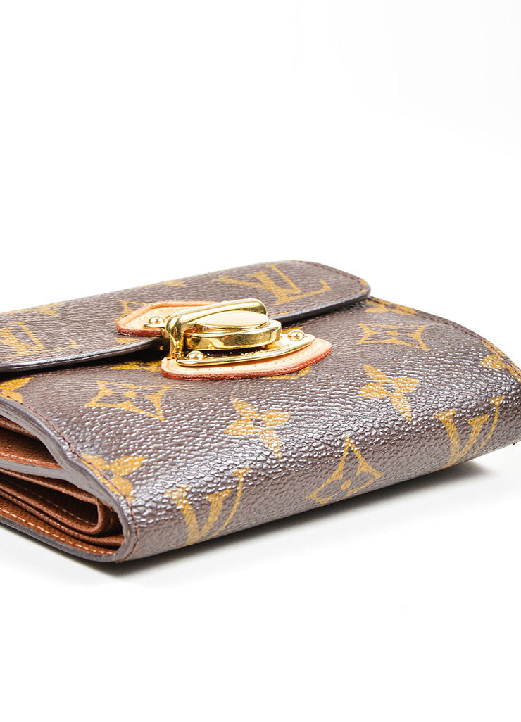 "Brown Louis Vuitton Monogram Canvas ""Joey"" Wallet Top"
