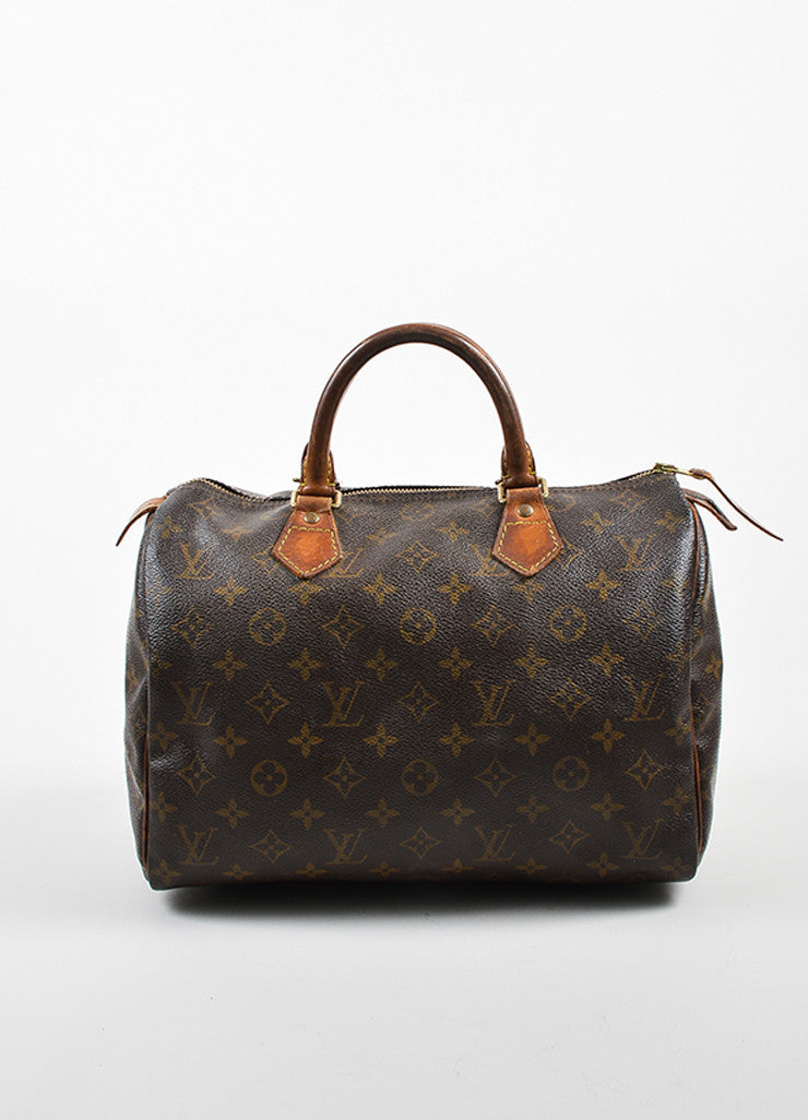 louis vuitton brown coated canvas monogram speedy 30 handbag luxury garage sale. Black Bedroom Furniture Sets. Home Design Ideas