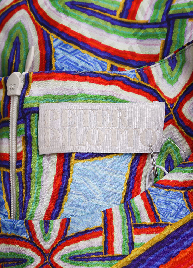 "Peter Pilotto New With Tags Multicolor Silk Printed Sleeveless ""Gia"" Dress Brand"