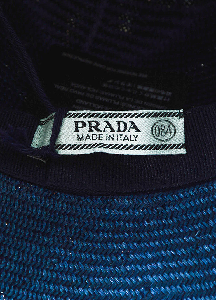 Prada Green, Blue, and Orange Peacock Feather Fedora Hat Brand