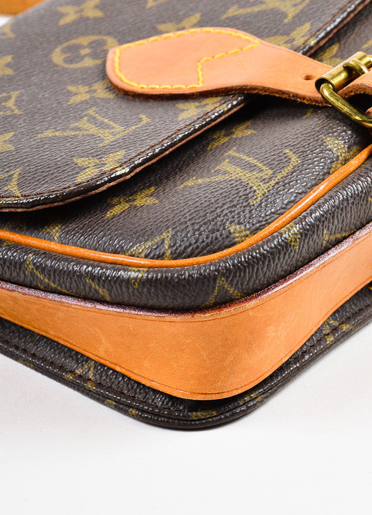 "Louis Vuitton Monogram Canvas ""Cartouchiere PM"" Crossbody Bag Detail"