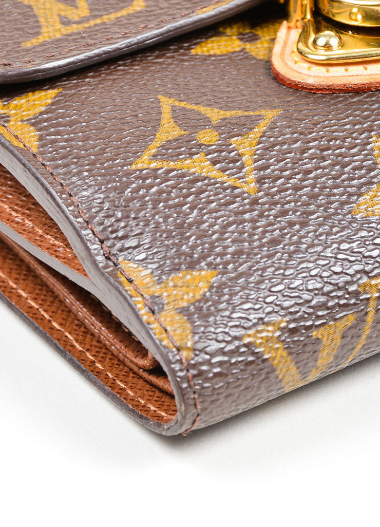"Brown Louis Vuitton Monogram Canvas ""Joey"" Wallet Detail"
