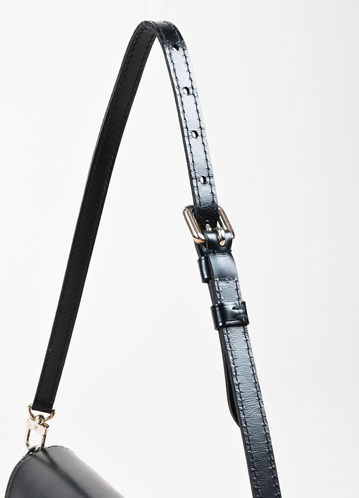 "Louis Vuitton Black Epi Leather Removable Buckle Strap ""Montaigne Pochette"" Bag Detail 2"