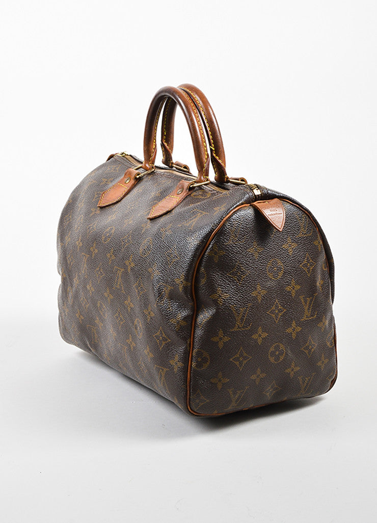 "Louis Vuitton Brown Coated Canvas Monogram ""Speedy 30"" Handbag"